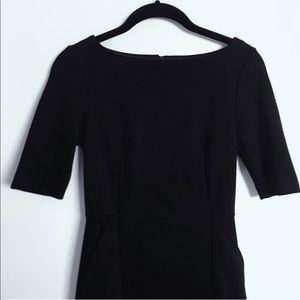 Half Sleeved Black Work Dress, SUPER flattering